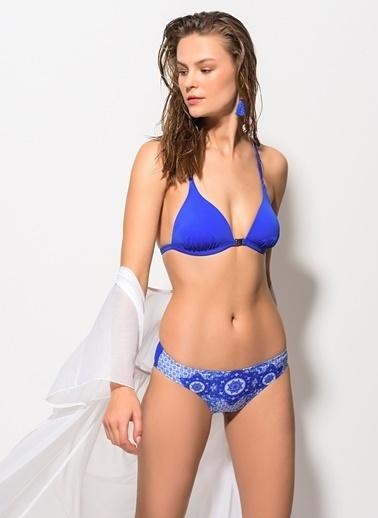 Dagi Kaplı Üçgen Bikini Takım Saks